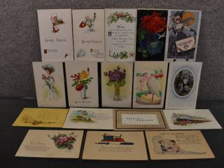 lot of 17 Vintage Greetings Postcards   1909  1928