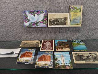 lot of 12 Vintage Postcards US Places   1971  1914  1962  1967  1954
