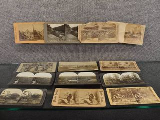 lot of 13 Vintage Stereograph Cards   Keystone View Company   Works and Studios