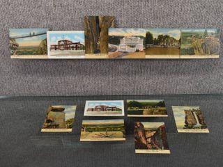 lot of 12 Vintage Miniature Postcards Pictures of Tourist Sites