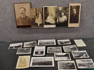 lot of 16 Vintage Photos of People   Places   G A  Avenarius  Esther Helen
