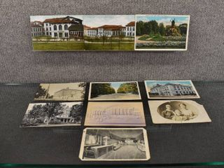 lot of 10 Vintage Postcards Of People   Places   1933  1939