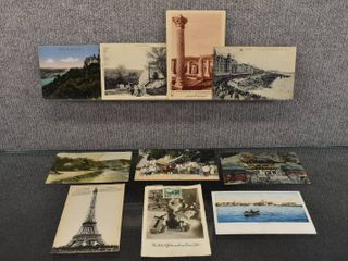 lot of 10 Vintage Postcards Of Foreign Countries