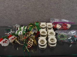 lot of 9 Vintage Christmas Napkin Rings