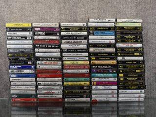 lot of Over 90 Vintage Cassette Tapes