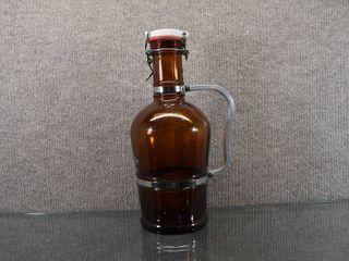 Vintage Granite City Food   Brewery Wichita  Ks Capped Bottle   Brown Bottle w Handle   13 1 2
