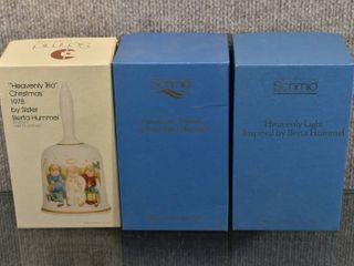 lot of 3 Vintage NIB Hummel Christmas Collector Bells   Schmid Made in Germany    1978  1980  1985   6