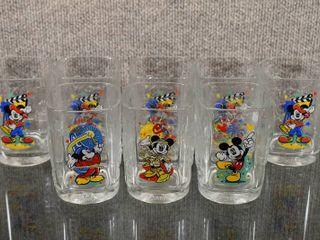 lot of 5 Vintage Walt Disney World Epcot Mickey Mouse Glasses   2000 Celebration   4 1 2  Tall