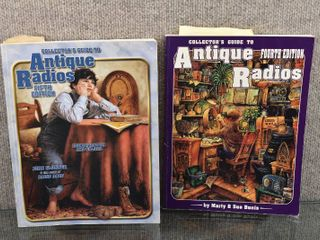 lot of 2 Antique Radio Collector Books   John Slusser   Mary   Sue Bunis