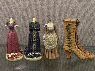 lot of 4 Vintage K s Collection Fashion Series Hand Painted Dress Forms   Boot   6