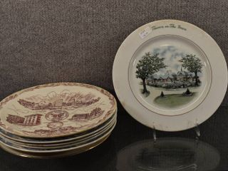 lot of 6 Vintage McAlester Collector Anniversary   Camden Friends Anniversary Plates   10