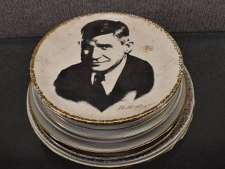 lot of 12 Vintage Collector Plates  Will Rogers  Arizona  Oklahoma  England  Virginia   8    9