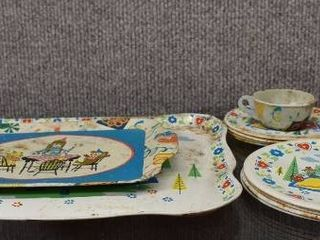 lot of 12 Vintage Children s Toy Dishes