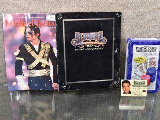 lot of 4 Alabama  Michael Jackson   Elvis Collectibles Plus NIB Poker Card Chips Set