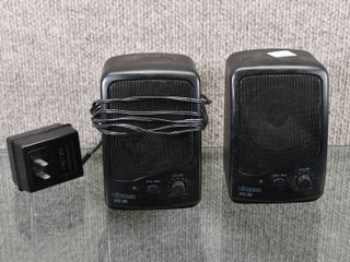 Set of 2 Vivanco Speaker W  Dc Plug   Work   5