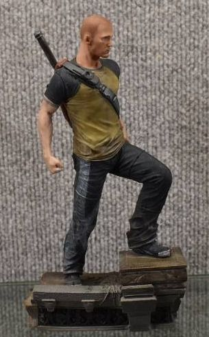 limited Edition Infamous 2 Hero  Cole  Figure Statue w  Stand   Slingback   8  Tall