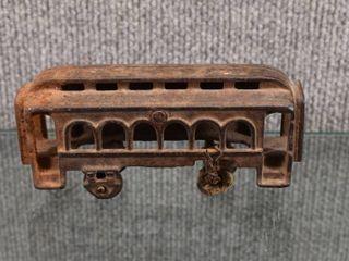 Vintage Cast Iron Passenger Train   2 1 2  x 6