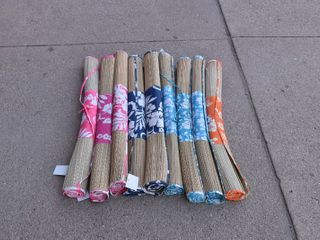 Set of 9 Bamboo lake Pool Mats Various Colors   30  x 72