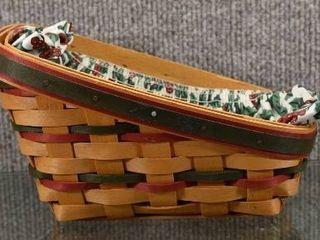 Vintage longaBerger Christmas Basket Handwoven 1998   6  long