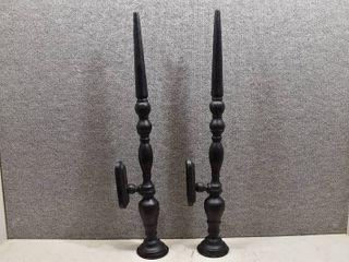 Set of 2 Tall Metal Decor Pieces   29  Tall