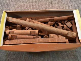 Vintage Box of lincoln logs