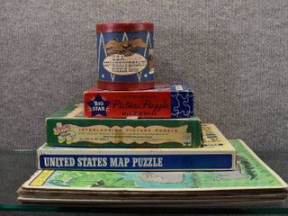 lot of 9 Vintage Jigsaw Picture Puzzles   Tuco  Walt Disney  Big Star