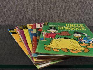 lot of 8 Vintage Cartoon Comic Books Tom   Jerry  Mickey Mouse  Smokey Bear etc   Top Comics   Gold Key