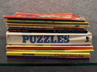 lot of 13 Vintage Activity Books   Dot to Dot  Puzzles   Coloring   Whitman Saalfield  Moby Books etc