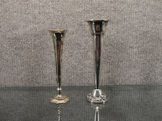 lot of 2 Vintage Silver Plate Weighted Candlestick Holders