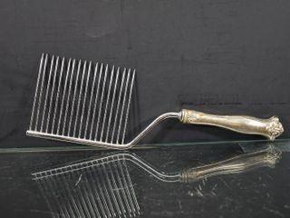 Vintage Silver Plated Angel Food Cake Comb Server   12  long
