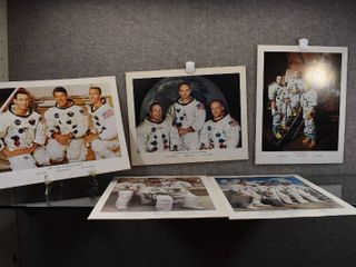 lot of 5 Vintage National Aeronautics And Space Administration Space Mission Photos   First Apollo  Apollo 11  Apollo 10  Test Flight  First Moon Orbit   11  x 13