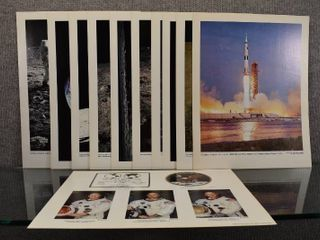 lot of 11 Vintage National Aeronautics And Space Administration Space Mission Photos   Apollo 11 July 1969   11  x 13