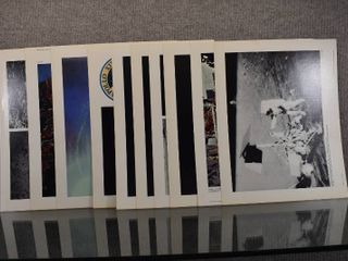 lot of 10 Vintage National Aeronautics And Space Administration Space Mission Photos   Apollo 12   11  x 13
