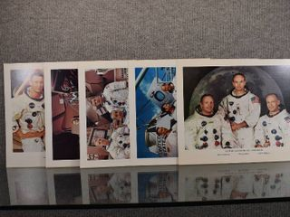lot of 5 Vintage National Aeronautics And Space Administration Space Mission Photos   Flight Crew Photos   11  x 13