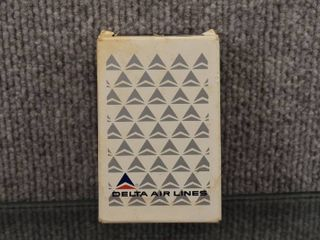 Vintage Delta Airlines Deck of Playing Cards   Aarcon Playing Card Co