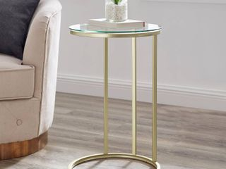 Silver Orchid Mace 16 inch Round C Side Table Retail 83 99