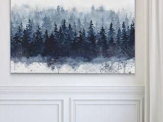 Indigo Forest  Canvas Art