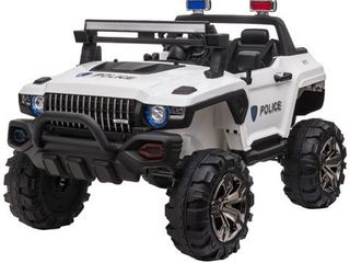 Aosom 12V Ride On Car 2  Seat SUV Truck w  Remote Control  3 Speeds  lED light Bar  Audio Input Retail 368 49