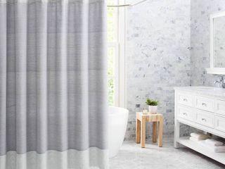 VCNY Home Fringe Stripe Cotton Shower Curtain