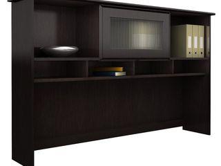 Bush Furniture Cabot Collection Hutch in Espresso Oak