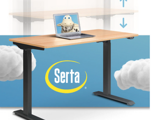 Serta Creativity Electric Height Adjustable Standing Desk Retail 345 49