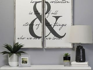 Stratton Home Decor Home is the Story Wall Art  18  x 36  2 Piece set