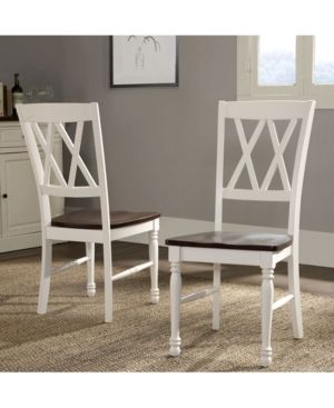 Shelby Dining Chair in White Finish  set of two