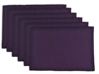 Design Imports Ribbed Kitchen Placemat Set of 6