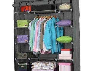 5 layer 12 Compartment Non woven Fabric Wardrobe Portable Closet