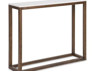 Kate and laurel Carmella Man Made Marble Top Console Table