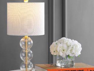 February 21  Glass Metal lED Table lamp  Brass Gold by JONATHAN Y