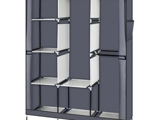71  Portable Closet Wardrobe Clothes Rack Storage Organizer w  Shelf
