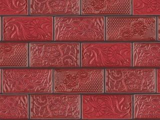 SomerTile 3x6 inch Antiguo Sensations Red Moon Ceramic Wall Tiles