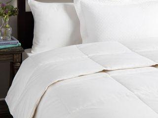 St  James Home lightweight Cotton Sateen White Down Comforter   King